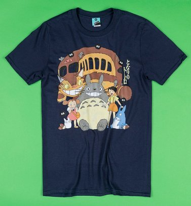 Ghibli Inspired My Neighbour Totoro Navy T-Shirt