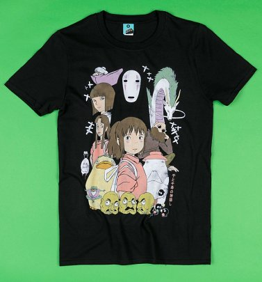 Ghibli Inspired Spirited Away Black T-Shirt