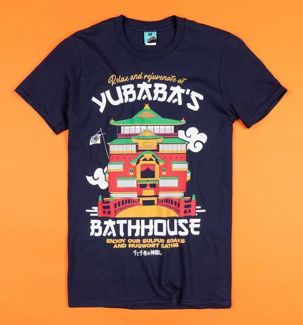 Ghibli Inspired Yubaba's Bathhouse Navy T-Shirt