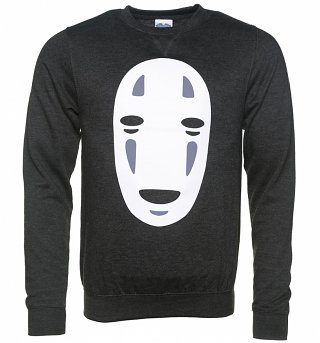 Ghibli No Face Inspired Black Heather Sweater