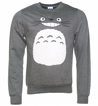 Ghibli Totoro Inspired Heather Grey Sweater
