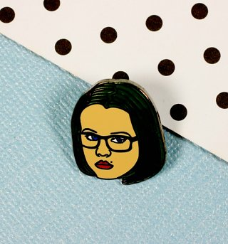 Ghost World Inspired Enid Enamel Pin from Punky Pins