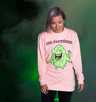 Ghostbusters Pink Lady Slimer Sweater from Cakeworthy