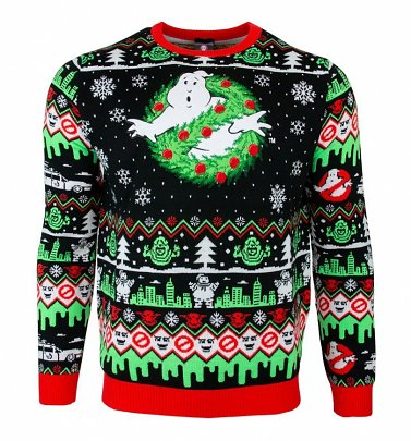 Ghostbusters Wreath Christmas Jumper