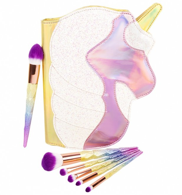 Glitter Unicorn Make Up Brushes Set