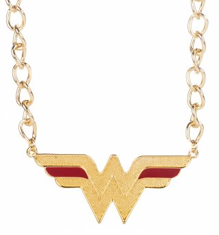 Gold DC Comics Wonder Woman Logo Necklace