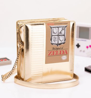 Gold Nintendo Legend Of Zelda Cartridge Cross Body Bag