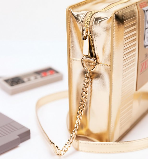 Gold Nintendo Legend Of Zelda Cartridge Cross Body Bag from Difuzed
