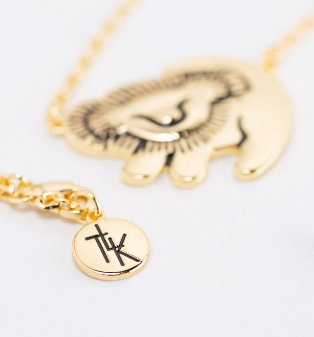 Gold Plated Disney The Lion King Simba Necklace
