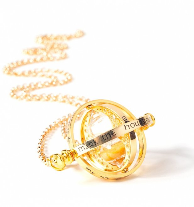 Gold Plated Harry Potter Spinning Time Turner Necklace
