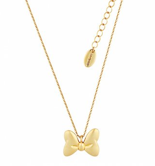Gold Plated Minnie Mouse Bow Necklace from Disney Couture