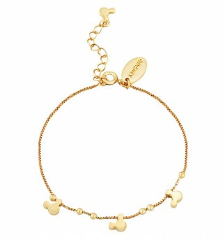 Gold Plated Minnie Mouse Heads Charm Bracelet from Disney Couture