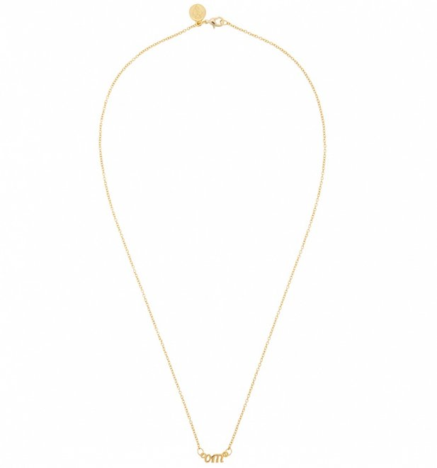 Gold Plated Nineties Om Necklace from Me & Zena