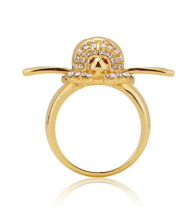 Gold Plated Swarovski Crystal Aladdin Scarab Ring from Disney by Couture Kingdom
