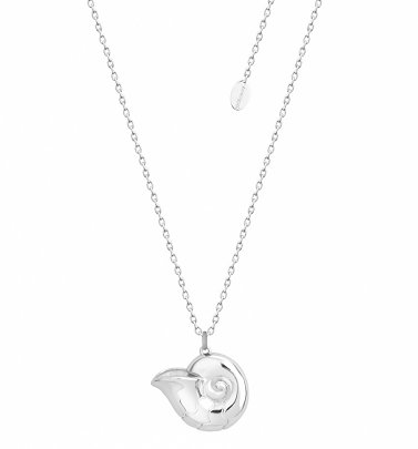White Gold Plated The Little Mermaid Ursula Shell Necklace from Disney by Couture Kingdom