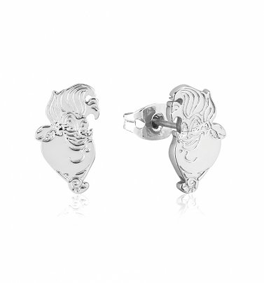 White Gold Plated The Little Mermaid Ursula Stud Earrings from Disney by Couture Kingdom