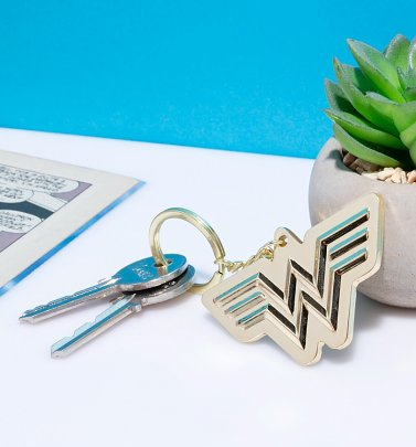 Gold Wonder Woman 1984 Metal Keyring