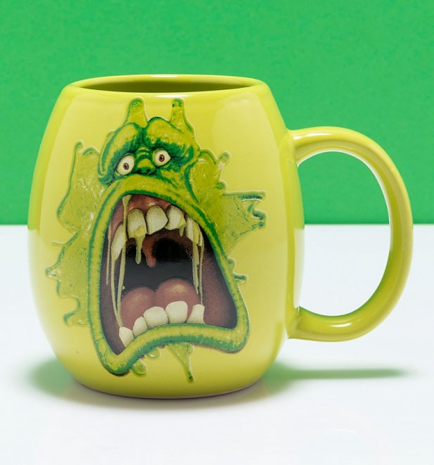 Green Ghostbusters Slimer Oval Mug