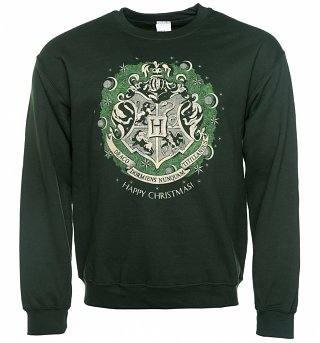 Green Harry Potter Crest Christmas Sweater