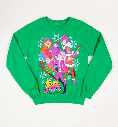Green Jem And The Holograms Christmas Jumper