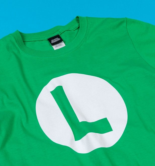 Green Super Mario Brothers Luigi T-Shirt