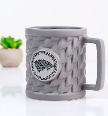 Grey Game Of Thrones Stark 3D Mug