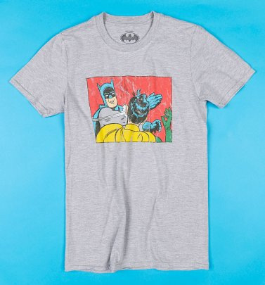 Grey Marl Batman Slap T-Shirt