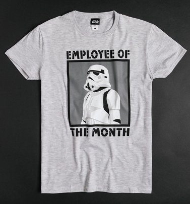 Grey Marl Star Wars Stormtrooper Employee Of The Month T-Shirt