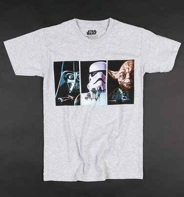 Grey Marl Star Wars VHS Art T-Shirt
