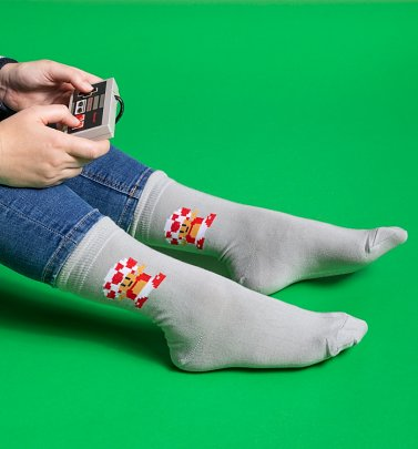 Grey Super Mario Toad Organic Cotton Socks from Dedicated