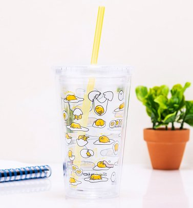 Gudetama Beaker With Straw