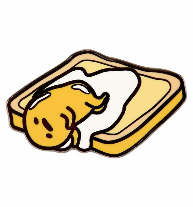 Gudetama On Toast Enamel Pin from Punky Pins