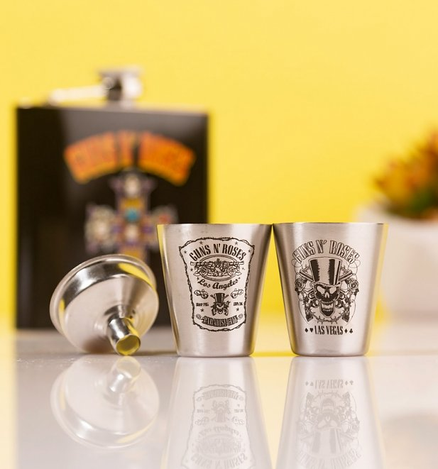Guns N' Roses Hip Flask Gift Set