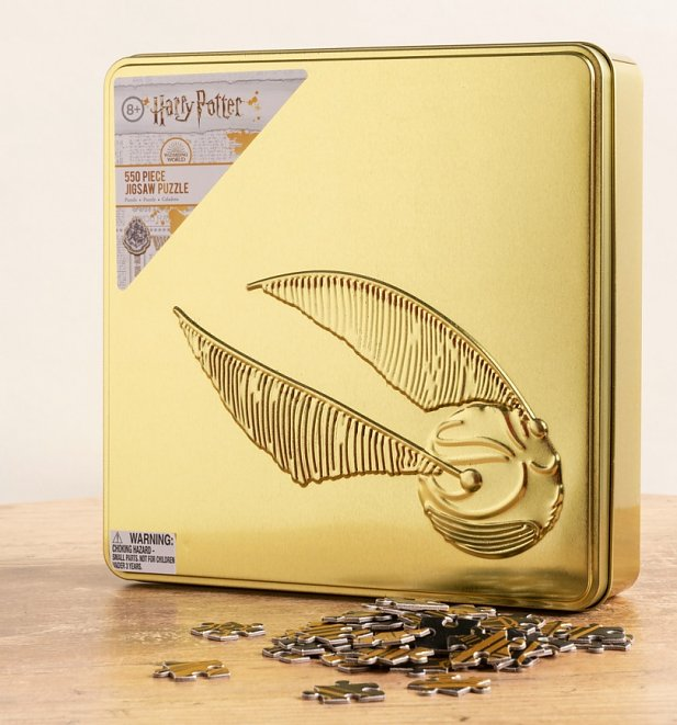 Harry Potter 550 Piece Golden Snitch Jigsaw Puzzle in Tin