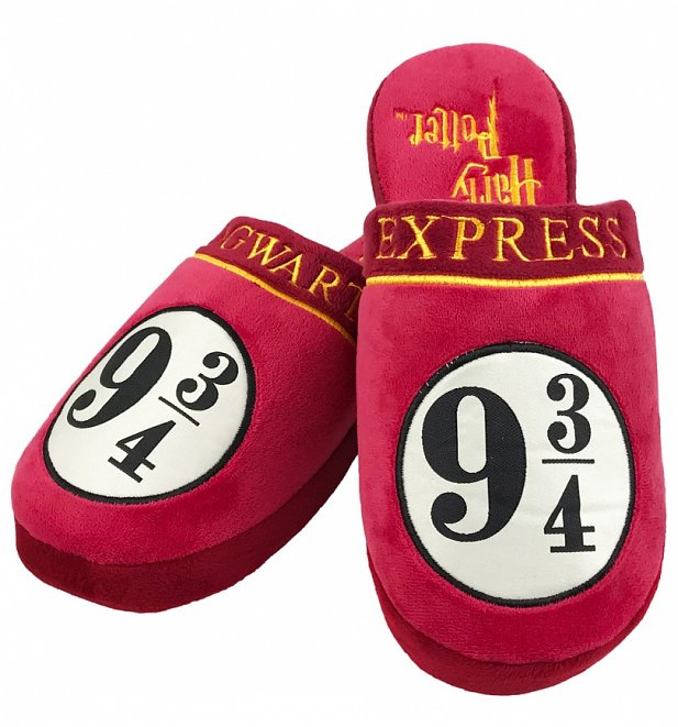 Harry Potter 9 and 3/4 Hogwarts Express Slippers
