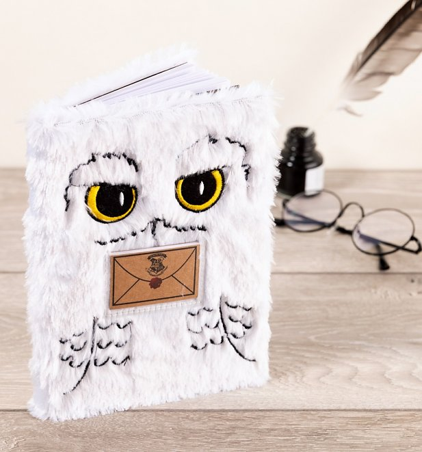 Harry Potter A5 Plush Hedwig Notebook