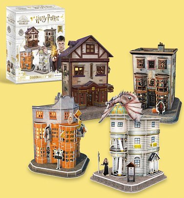 Harry Potter Diagon Alley Set of Four 3D Puzzle