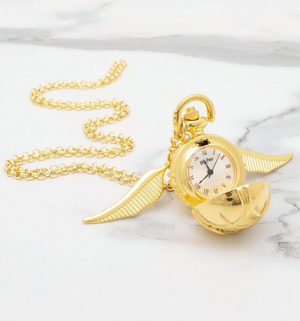 Harry Potter Golden Snitch Watch Necklace
