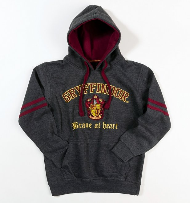Harry Potter Gryffindor Applique Charcoal Hoodie
