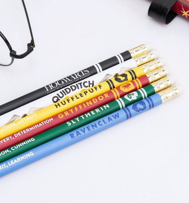 Harry Potter Hogwarts Houses Pencil Set