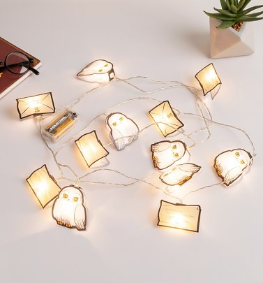 Harry Potter Hogwarts Letter and Hedwig String Lights