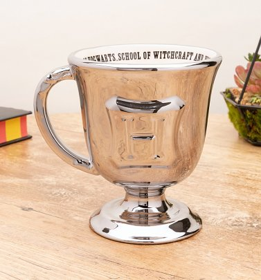 Harry Potter Hogwarts Metallic Silver Goblet Mug