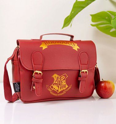 Burgundy Harry Potter Hogwarts Satchel Style Lunch Bag