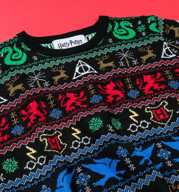 Harry Potter Houses Knitted Christmas Jumper