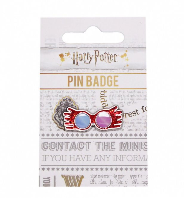 Harry Potter Luna Lovegood Glasses Enamel Pin Badge