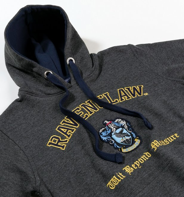 Harry Potter Ravenclaw Applique Charcoal Hoodie