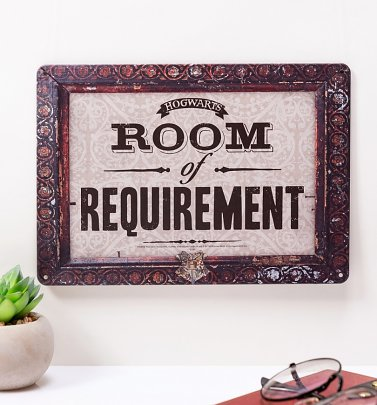 Harry Potter Room Of Requirement Tin Sign