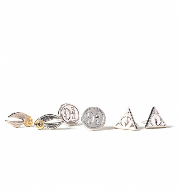Harry Potter Set Of 3 Stud Earrings