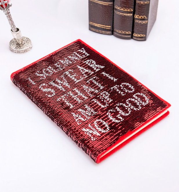 Harry Potter Solemnly Swear Marauders Map Sequin Flip Notebook