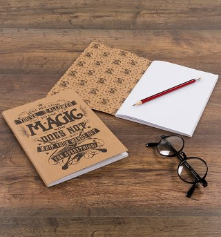 Harry Potter Use Magic Set of Two A5 Notebooks